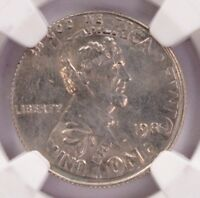 NGC 1C 1982 LINCOLN CENT ON ROOSEVELT DIME DOUBLE DENOMINATI