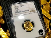 COLOMBIA 2 ESCUDOS 1700 13 PLATE 1715 FLEET SHIPWRECK NGC 53 PIRATE GOLD COINS