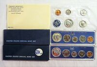 THREE UNITED STATES SPECIAL MINT SETS 1965   1966   1967 WITH