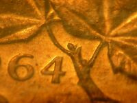 1964 CANADA CENT EXTRA SPINE ICCS MS 64 RED