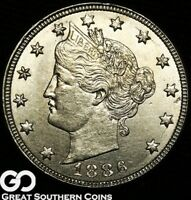 1886 LIBERTY V NICKEL  THIS NICE HIGHLY COVETED CHOICE BU