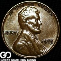 1955/55 DDO LINCOLN CENT WHEAT PENNY DOUBLED DIE COVETED BU