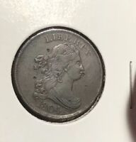 CHEAP AU DETAILS ? 1804 HALF CENT , DRAPED BUST,  EARLY COPPER HIGH SILVER