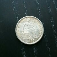 1883 SEATED LIBERTY SILVER DIME 10C -   BETTER DATE   BU