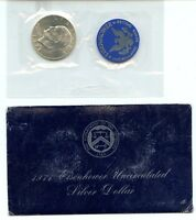 1971-S EISENHOWER IKE DOLLAR UNCIRCULATED 40 SILVER - ORIGINAL BLUE ENV & CELLO