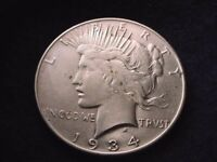 1934 PEACE DOLLAR SUPERIOR SILVER DOLLAR  220
