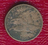 1858 FLYING EAGLE CENT -LARGE LETTERS- LY CIRCULATED SHIPS FREE