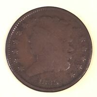 1835 HALF CENT - HIGH QUALITY SCANS C516