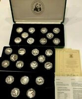 SET 25 SILVER PROOF COINS OF 1986 1988 25TH ANNIVERSARY WORLD WILDLIFE FUND WWF