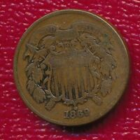 1869 TWO CENT PIECE MILDLY CIRCULATED TYPE COIN SHIPS FREE