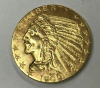 1909 $5 INDIAN GOLD COIN   HIGH GRADE   FROM ESTATE SALE   2