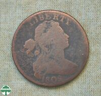 1802 DRAPED BUST LARGE CENT   ABOUT GOOD DETAILS   CLEANED