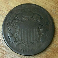 1865 2 CENT PIECE   BIDDING STARTS AT .99 CENTS AND