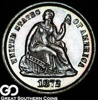 1872 SEATED LIBERTY HALF DIME PROOF BEAUTIFULLY TONED SUPERB