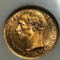 1909 DENMARK 10 GOLD KRONER NGC MS 65 BEAUTIFUL COIN