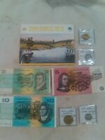 AUSTRALIA 1988 MINT SET PLUS COINS AND CURRENCY