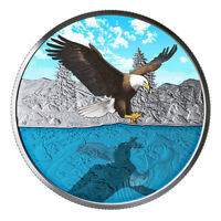 BALD EAGLE REFLECTIONS  GLOW TECHNOLOGY 1 OZ SILVER COIN 201