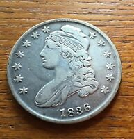 1836 CAPPED BUST HALF DOLLAR FINE CONDITION