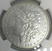 1893 CC MORGAN SILVER DOLLAR VF DETAILS CLEANED NGC
