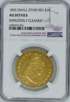 1803 $10 GOLD AU DETAILS NGC SMALL STARS REVERSE