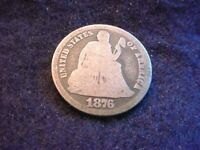 1876-CC SEATED LIBERTY DIME GREAT COIN  2