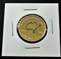 2001 CENTENARY OF FEDERATION PROOF ONE $1 DOLLAR COLOURED CO