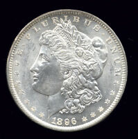 1896  VAM 1C THREAD-LIKE IMPRESSION EAGLE'S WING .. MORGAN DOLLAR 613-105