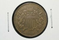 1866 2C TWO CENT PIECE, CHOICE EXTRA FINE