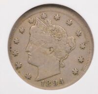 ANACS 5C 1894 LIBERTY NICKEL LARGE BROADSTRIKE EF40