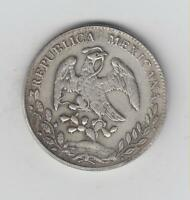 NICE SCARCE MEXICO SILVER  .903  8 REALES GOOD FINE 39MM DIA
