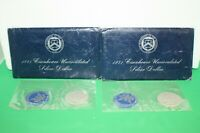 LOT OF 2 1971 EISENHOWER UNCIRCULATED SILVER DOLLAR