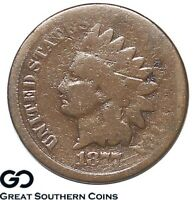 1877 INDIAN HEAD CENT PENNY COVETED LOW MINTAGE KEY DATE