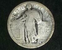 TYPE 1 DATELESS STANDING LIBERTY SILVER QUARTER COIN FLYING EAGLE REV 1916 -1930