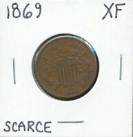 1869-P TWO CENT PIECE 2C EXTRA FINE EXTRA FINE