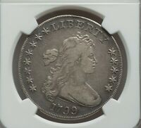 Click now to see the BUY IT NOW Price! 1799 DRAPED BUST DOLLAR 8X5 STARS B 23 R3 NGC VF 25