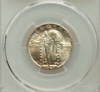 1924 D STANDING LIBERTY QUARTER PCGS MINT STATE 66 BETTER DATE BEAUTIFUL ORIGINAL COIN