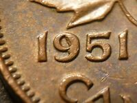 HARD TO FIND: 1C 1951 ZOELL P75P DIE CHIP ON 9 NICE PROBLEM FREE COIN