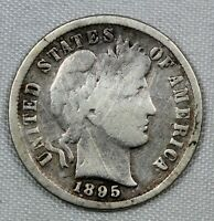 BETTER DATE GOOD DETAILS 1895 BARBER DIME G 10C