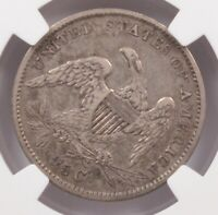 NGC 1834 CAPPED BUST QUARTER 40 DEGREE ROTATED REVERSE XF40