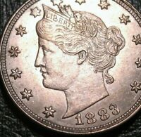 5C NICKEL FIVE CENTS 1883  NO CENTS LIBERTY HEAD V NICKEL LUSTROUS
