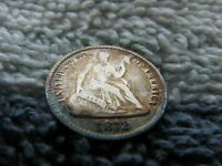 1872 HALF DIME WITH DOUBLED OBVERSE