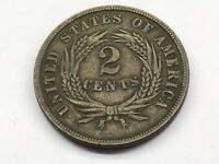 1864 TWO CENT COIN LARGE MOTTO 15