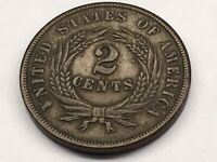 1864 TWO CENT COIN LARGE MOTTO 8