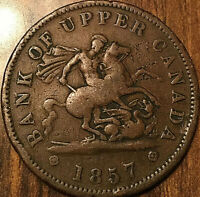 1857 UPPER CANADA DRAGONSLAYER ONE PENNY TOKEN