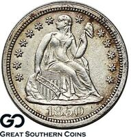 1850 SEATED LIBERTY DIME,  SHARP COLLECTOR TYPE COIN