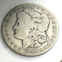 1898 S MORGAN ONE 1 DOLLAR UNITED STATES AMERICA CIRCULATED COIN K378