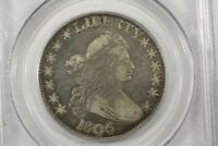 1806 DRAPED BUST HALF, POINTED 6 NO STEM, PCGS VF-30