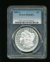 1881-S MORGAN SILVER DOLLAR $1 PCGS MINT STATE 64 PROOFLIKE PL PROOF LIKE PROOF-LIKE