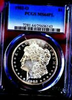 MORGAN SILVER DOLLAR 1902 O PCGS MINT STATE 64PL DMPL OFF GRADE MONSTER MIRRORS WOW