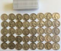 SILVER WASHINGTON QUARTERS   ROLL OF 40  1932 1934 1951 PDS